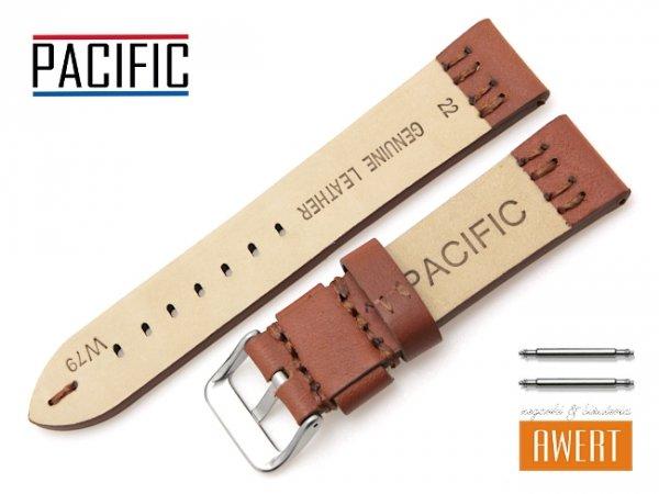 PACIFIC 22 mm pasek skórzany W79 brązowy W79-5S-22