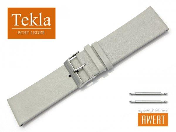 Pasek do zegarka TEKLA PT26 skórzany 26 mm szary