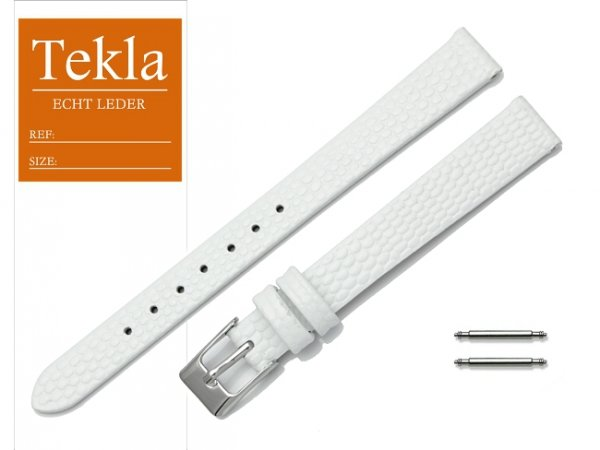 TEKLA 12 mm pasek skórzany PT45 biały