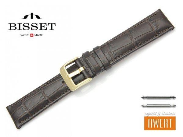 Pasek skórzany do zegarka 20 mm BISSET BS151 brązowy