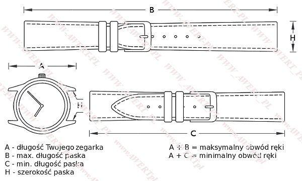TEKLA 22 mm pasek skórzany PT93 białe szycie