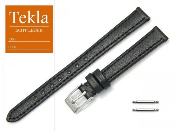 Pasek do zegarka skórzany 12 mm TEKLA PT69 czarny