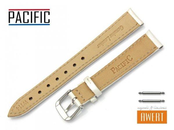 PACIFIC W114 pasek skórzany 14 mm ecru