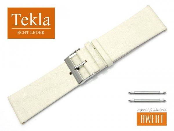 Pasek do zegarka TEKLA PT26 skórzany 26 mm ecru