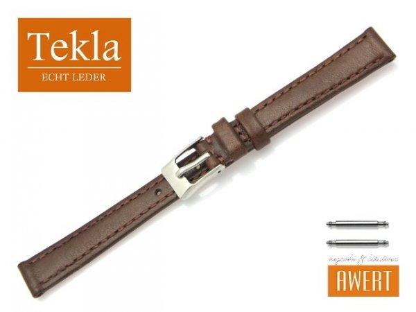 TEKLA 12 mm pasek skórzany PT69 brązowy