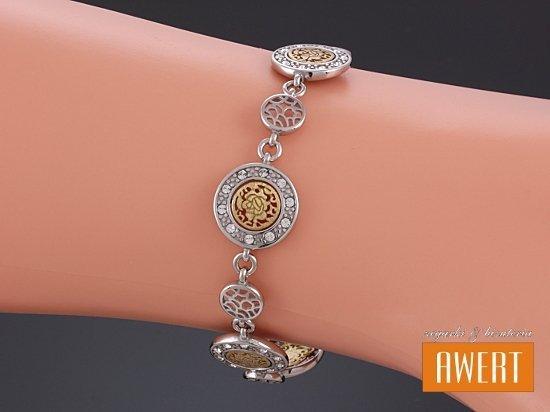 BASEL GOLD srebrna bransoletka na rękę 19 cm
