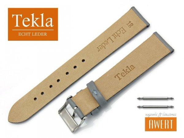 Pasek do zegarka TEKLA PT26 skórzany 18 mm szary