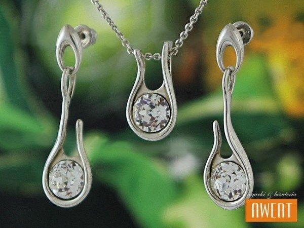 CHARLOTTE srebrny komplet z kryształami SWAROVSKIEGO