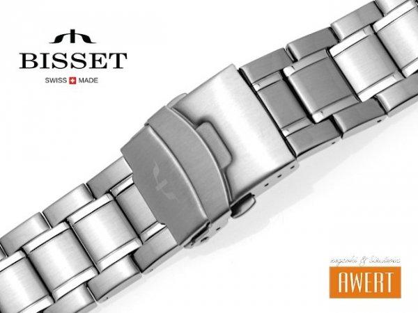 BISSET 24 mm bransoleta stalowa BR113 srebrna