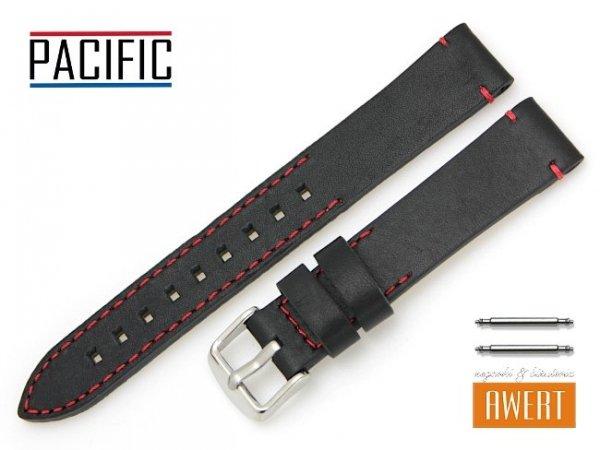 PACIFIC18 mm pasek skórzany W90 czarny W90-1RE-18