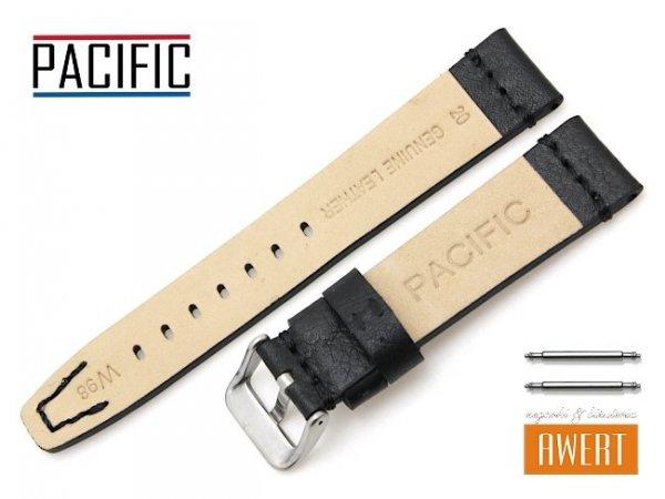 PACIFIC 20 mm pasek skórzany W98 czarny W98-1S-20