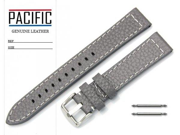 PACIFIC 18 mm pasek skórzany W45 szary
