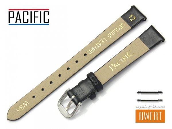 PACIFIC 12 mm pasek skórzany W86 czarny
