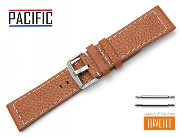 PACIFIC pasek skórzany do zegarka W45 brązowy