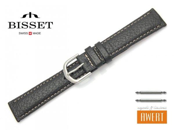 Pasek skórzany do zegarka 18 mm BISSET BS103 czarny