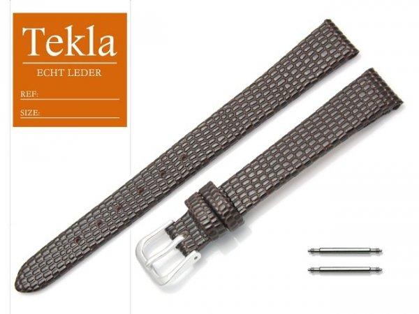 Pasek skórzany do zegarka 12 mm TEKLA PT34 brązowy
