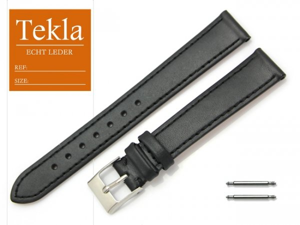 TEKLA 16 mm pasek skórzany PT69 czarny
