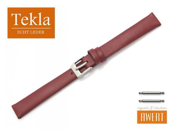 TEKLA 12 mm pasek skórzany PT16 bordowy