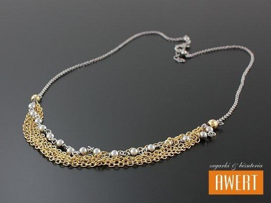 ANCONA GOLD srebrny rodowany naszyjnik pozłacany