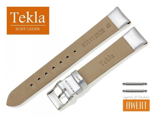 TEKLA 16 mm pasek skórzany PT11 srebrny