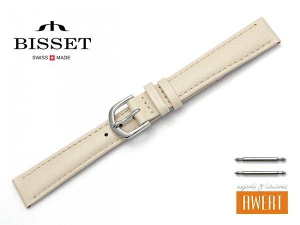 Pasek skórzany do zegarka 14 mm BISSET BS113 beżowy