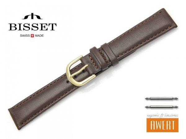 Pasek skórzany do zegarka 18 mm BISSET BS107 brązowy