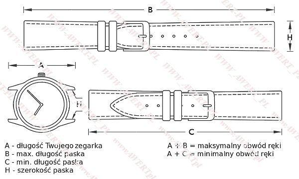 REDA 22 mm pasek skórzany RS23