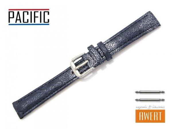 PACIFIC 14 mm pasek skórzany W123 granatowy