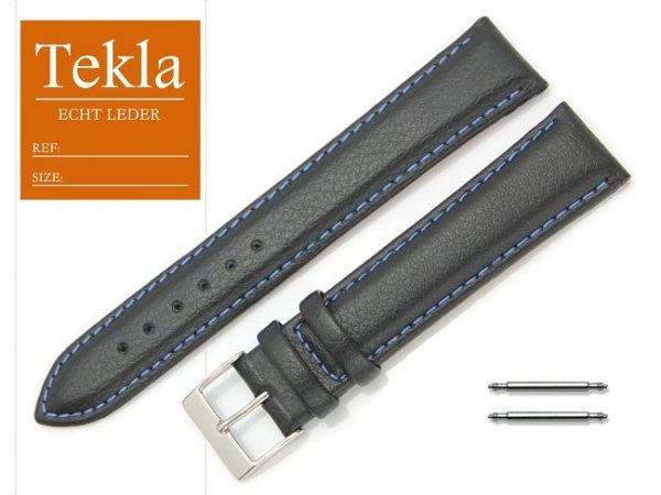 TEKLA 20 mm XL pasek skórzany PT10 niebieskie szycie