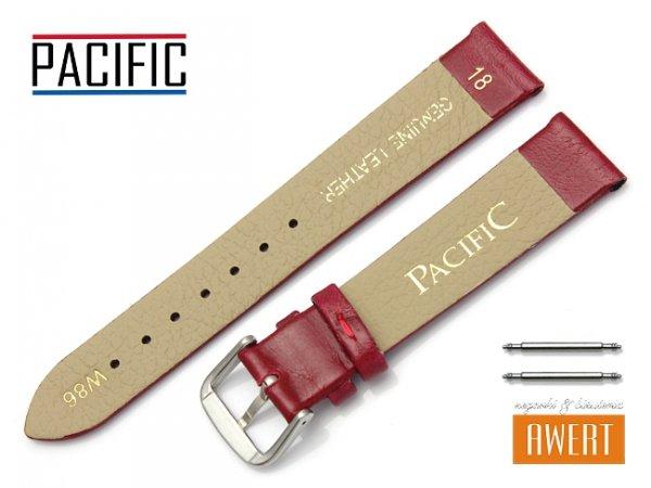 PACIFIC 18 mm pasek skórzany W86 czerwony