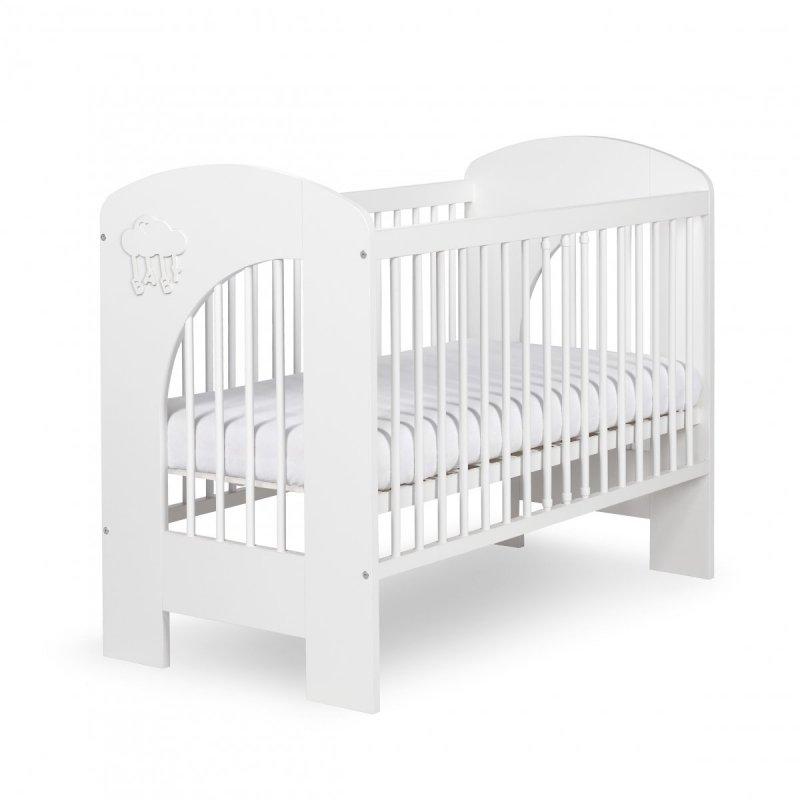 łóżeczko białe drewniane