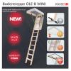 Bodentreppe OLE-B MINI 4-teilige 60x94 70x94 aus Holz U=1,13 weiße Öffnungsklappe Holzbodentreppe Dachbodentreppe