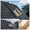 VELUX Wohn- und Ausstiegsfenster GXL FK06 66x118 3060 mit Türfunktion FK06 66x118 cm Uw=1,3  Ausstiegsfenster aussen Dachfenster für Schornsteinfeger