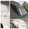 VELUX EBW 2032BK 3x2 MK06 Kombi-Eindeckrahmen für gaubenähnliche Lösungen Aluminium VELUX Lichtlösung PANORAMA  Basiselement + GGL/GPL ESG VSG 0070 - THERMO -Variante Holz