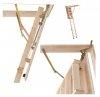 Bodentreppe DOLLE Euroiso aus Holz U=1,6 weiße Öffnungsklappe