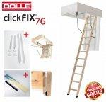 Bodentreppe Dolle ClickFIX 76 GOLD U= 0,49 Super-thermoisolierte  Click-fix 3-teilig mit Handlauf
