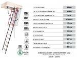Bodentreppen OMAN POLAR PLUS ZeroGravity Handlaufsystem, Super-thermoisolierte Uw=0,36 energiesparende, Treppe Comfort, Dachbodentreppe mit Metallleiter, Gold Isolationsparameter, 3-teilig, mit Handlauf - Teleskophandläufe, Doppelschloss, 3 Dichtungen
