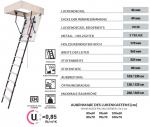 Bodentreppe OMAN MINI EXTRA  U=0,85 W/m2*K Energiesparende Treppe