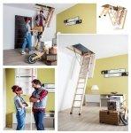 Bodentreppe FAKRO LWT energiesparende Bodentreppe aus Holz U=0,51 W/m²K