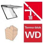Roto Dachfenster WDF R88C H WD AL Holzfenster Designo R8 Klapp-Schwingfenster aus Holz mit Wärmedämmblock, 2-fach Comfort Uw=1,1 alternative für R85 Verbundsicherheitsglas innen VSG, 2-fach-Verglasung BlueLine Comfort nächste Generation von R85