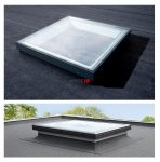 VELUX Flachdachfenter Festverglastes Basis-Element CFP 0073U