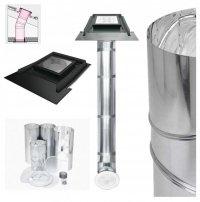FAKRO Tageslicht-Spot SRZ mit starrem Rohr mit Eindeckrahmen, für profilierte Dacheindeckungen bis zu 45mm