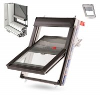 Dachfenster Kunststoff PVC KEYLITE INTEGRAL Schwingfenster aus Kunstoff mit Wärmedämmblock Uw=1,3