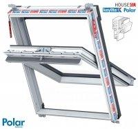 Dachfenster Schwingfenster, Keylite Polar PCP Termal Kunststoff mit Wärmedämmblock Weiß PVC 2-fach-Verglasung Uw= 1,3 Bad-Dachfenster
