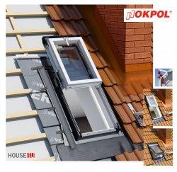 Dachluken Okpol IGWX+ E2 78x98 für Nutzräume Uw=1,2 Dachausstiegsfenster aus Kunststoff SOLID+ PVC - Ausstiegsfenster - Dachausstieg - Dachluke - Dachfenster