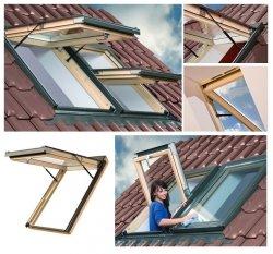 Dachfenster OptiLight VK Klapp-Dachfenster mit Klappfunktion aus Holz