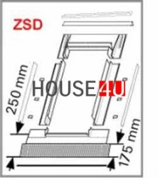 Eindeckrahmen Roto EDR ZSD für Flache Eindeckmaterialen ohne WD