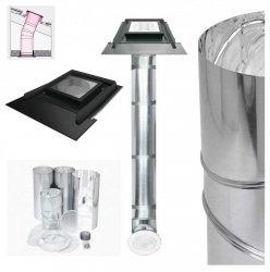 FAKRO Tageslicht-Spot SRZ Durchmesser ∅ 350 550mit starrem Rohr mit Eindeckrahmen, für profilierte Dacheindeckungen bis zu 45mm