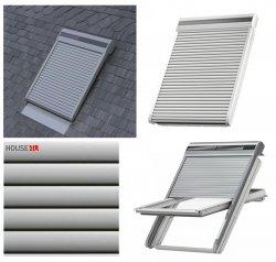 VELUX Dachfenster Außenrollladen SSL 0700S Ausführung Hellgrau INTEGRA® Solar- Rollladen Hellgrau inkl. Fernbedienung / Funk-Wandschalter