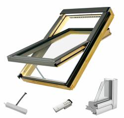 Dachfenster Fakro FTP-V Z-Wave U5 Schwingfenster aus Holz